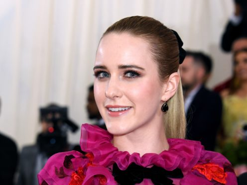 Actress Rachel Brosnahan has paid tribute to her aunt Kate Spade on the first anniversary of the fashion designer's death (Jennifer Graylock/PA)