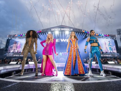 Spice Girls' Wannabe named best-selling girl band single of all time (Andrew Timms/PA)