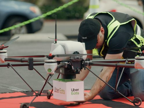 Uber Eats tests sending food deliveries via drone (Uber/PA)