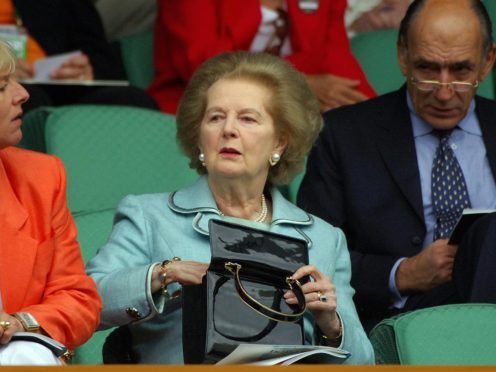 The V&A is trying to secure one of Baroness Thatcher's famous handbags for a new exhibition (Rui Vieira/PA)