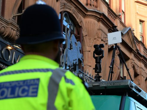 Facial Recognition Technology trial in Leicester Square, London (Kirsty O'Connor/PA)