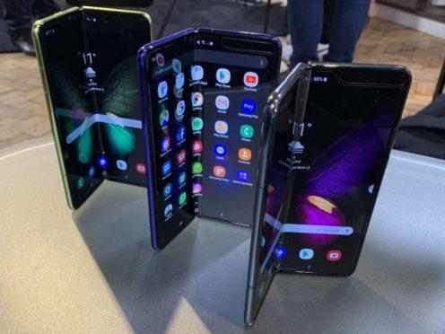 The Samsung Galaxy Fold smartphone (Martyn Landi/PA)