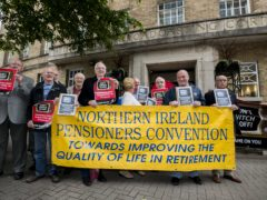 A protest against the withdrawal of the universal, free TV licence for over-75s (Liam McBurney/PA)