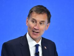 Jeremy Hunt jokes about being UK's next prime minister (Dominic Lipinski/PA)