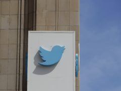 A sign outside the Twitter office building in San Francisco (Jeff Chiu/AP)