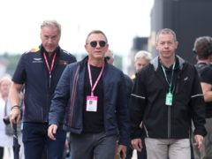 Daniel Craig attending the British Grand Prix at Silverstone (David Davies/PA)