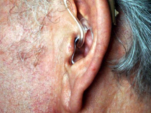 A hearing aid (Sean Dempsey/PA)