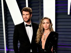 Miley Cyrus and Liam Hemsworth's shock split was the latest celebrity separation of 2019 (Ian West/PA)