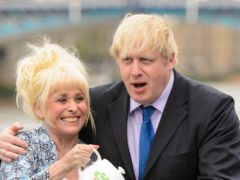 Dame Barbara with Boris Johnson in 2013 (PA)