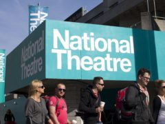 The National Theatre on the South Bank of the River Thames in London (Justin Tallis/PA)