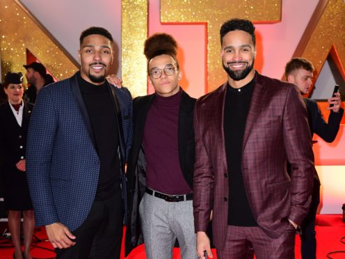 (left to right) Jordan Banjo, Perri Kiely and Ashley Banjo attending the National Television Awards 2019 held at the O2 Arena, London (PA)
