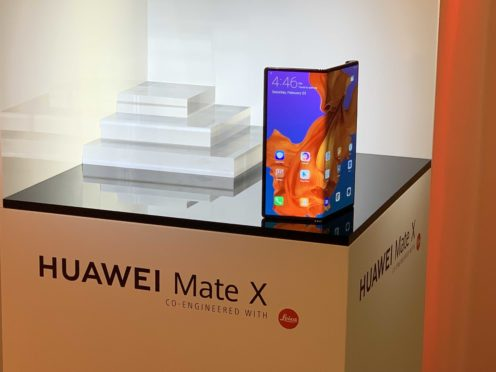 The Huawei Mate X (Martyn Landi/PA)