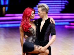 Dianne Buswell and Joe Sugg (Aaron Chown/PA)