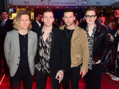 McFly (left to right) Dougie Poynter, Danny Jones, Harry Judd and Tom Fletcher. The band will reunite for one night only for a show at London's O2 arena, it has been annnounced. (Ian West/PA)