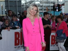 Amy Hart from Love Island arriving for the gala night for Big The Musical at the Dominion Theatre, London (Yui Mok/PA)