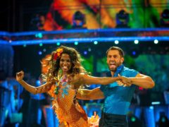Oti Mabuse and Kelvin Fletcher during Strictly Come Dancing (Guy Levy/BBC/PA)