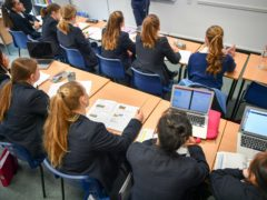 The number of girls applying for cyber security courses has risen by nearly 50% in a year, according to new figures (Ben Birchall/PA)