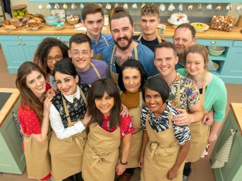 Bake Off contestants Steph, Henry, Priya, Helena, Alice, Phil, and Rosie, Amelia, David, Michelle, Michael, Dan and Jamie (C4/Love Productions/Mark Bourdillon/PA)