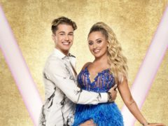 Saffron Barker with her dance partner AJ Pritchard. (Ray Burmiston/BBC)