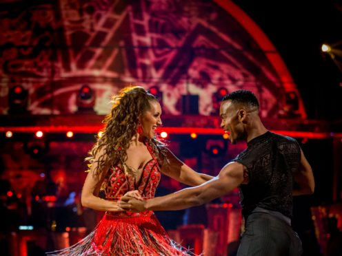 Catherine Tyldesley and Johannes Radebe on Strictly (BBC/PA)