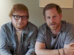 Ed Sheeran with the Duke of Sussex (SussexRoyal/PA)