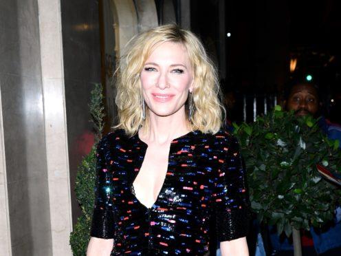 Cate Blanchett attending the Harper's Bazaar Women of the Year Awards at Claridges Hotel, London (Ian West/PA)