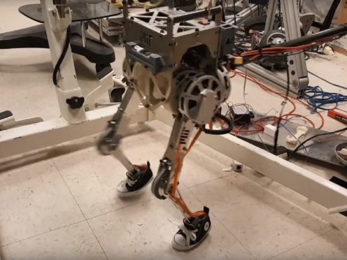 The two-legged robot (Screenshot/YouTube)