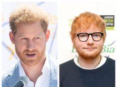 The Duke of Sussex and Ed Sheeran (Facundo Arrizabalaga/Victoria Jones/PA)