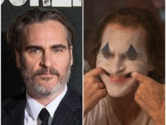 Joaquin Phoenix as the Joker (Warner Bros Entertainment Inc/DC Comics/Niko Tavernise/PA)