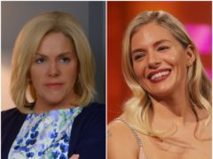 Sienna Miller reveals kissing prank she played while wearing prosthetics (Showtime/PA)