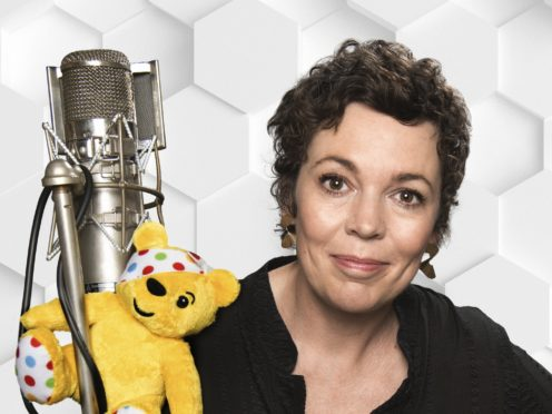 Olivia Colman has recorded a song for BBC Children In Need (BBC/Shutterstock/Ray Burmiston/PA)