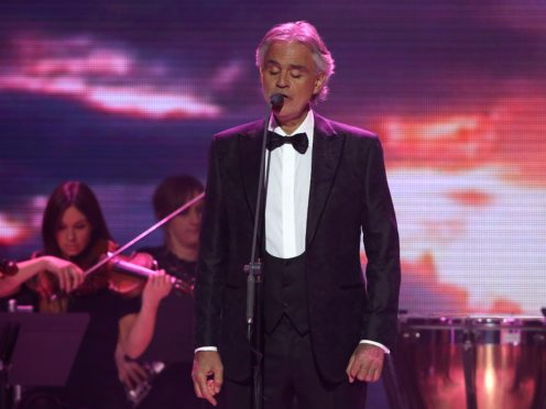 Andrea Bocelli on stage (Angeles Rodenas/PA)