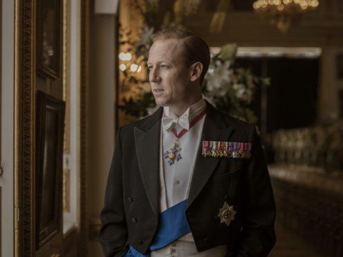 Tobias Menzies playing Prince Philip, Duke of Edinburgh, in season three of The Crown (Sophie Mutevelian/Netflix)