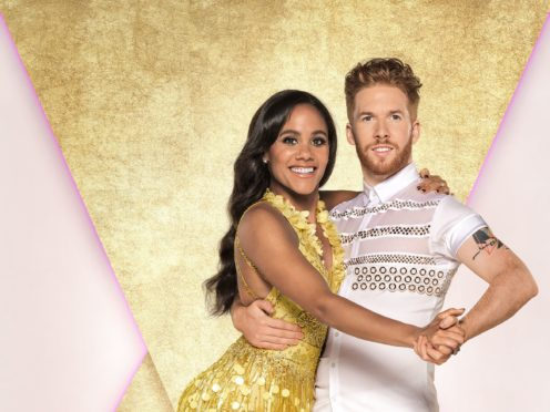 Alex Scott with her dance partner Neil Jones. (Ray Burmiston/BBC)
