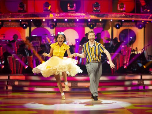 Alex Scott and Neil Jones on Strictly (Guy Levy/BBC)