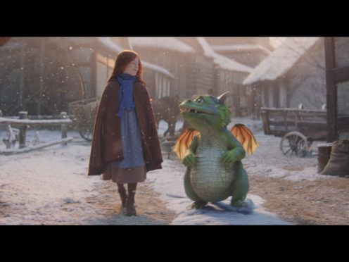 Excitable Edgar in the John Lewis Christmas advert (John Lewis & Partners/PA)