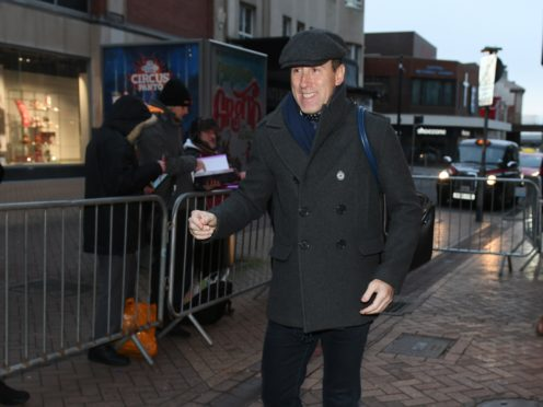 Anton Du Beke arrives at Blackpool Tower Ballroom (Dave Nelson/PA)