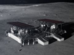 Illustration of a mid-sized lander concept which could be used on the moon (Nasa/PA)