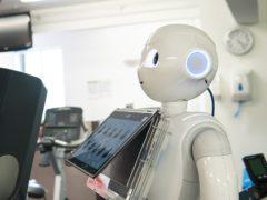 Pepper the robot coaching a runner (UWE Bristol/PA)