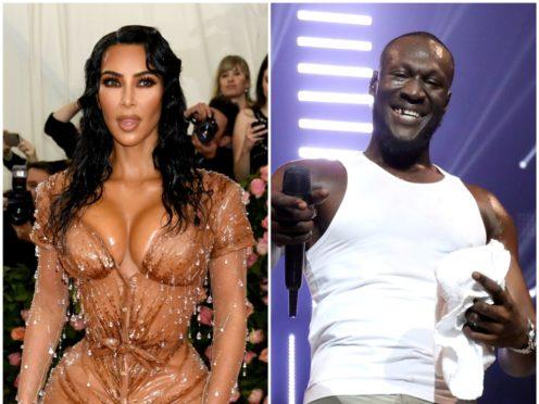Kim Kardashian West and Stormzy (PA)