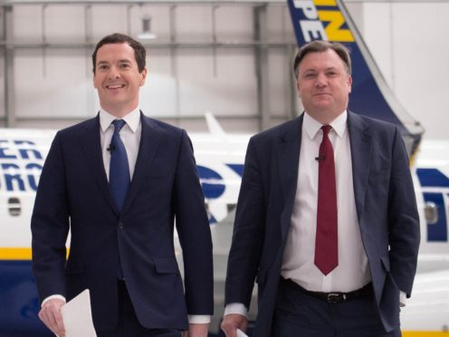 George Osborne and Ed Balls will reflect on the election results for ITV (PA)