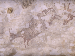 The earliest known hunting scene uncovered (Maxime Aubert/PA)