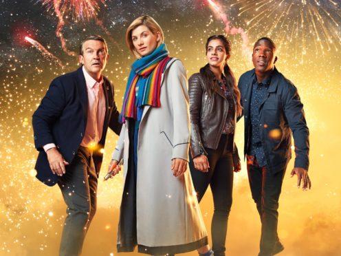Bradley Walsh, Jodie Whittaker, Mandip Gill and Tosin Cole in Doctor Who (Henrik Knudsen/BBC Studios/PA)
