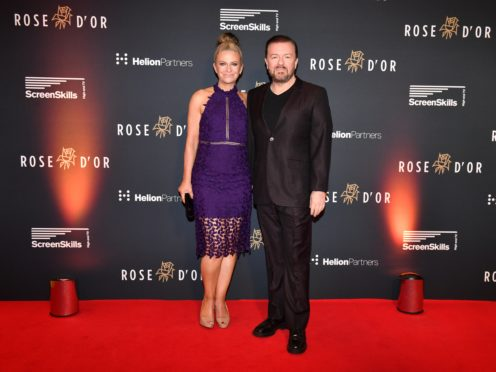 Ricky Gervais and Jane Fallon (Simon Wilkinson/SWpix.com)