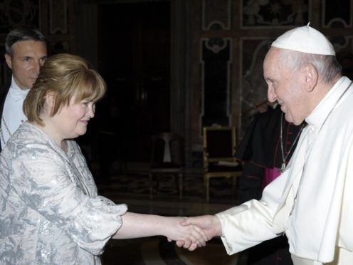 Susan Boyle and Pope Francis (The Vatican)