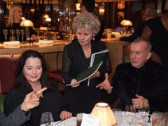 Imelda Staunton serves guests during One Night Only at The Ivy in aid of Acting For Others (Dave Benett)
