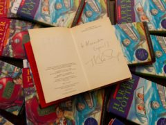 Harry Potter and the Chamber of Secrets book signed by JK Rowling and other Mark Cavoto books from the series up for auction (Emma Errington/Hansons)