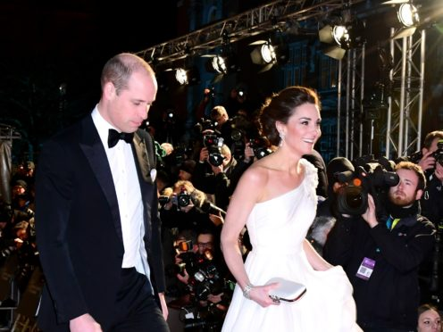 The Duke and Duchess of Cambridge at the 72nd Baftas (Ian West/PA)