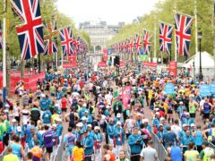 Runners during the 2019 Virgin Money London Marathon (Paul Harding/PA)