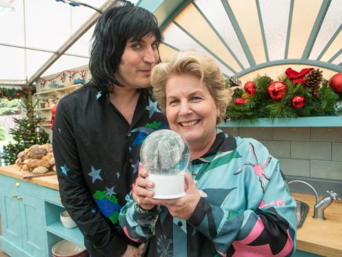 Noel Fielding shares sweet tribute to Sandi Toksvig as she quits Bake Off (C4/Love Productions/Mark Bourdillon)